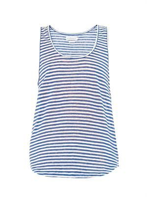 Demi striped linen tank
