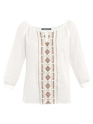 Diran embroidered Navajo top