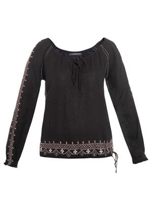 Helena Navajo embroidered top
