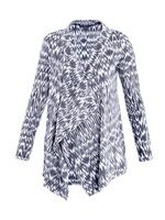 Ikat burnout-print cardigan