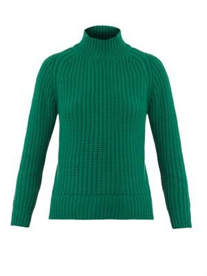 Ribbed-knit wool sweater