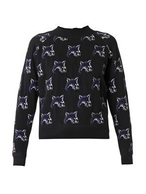 Fox intarsia-knit sweater