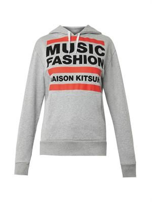 Music Fashion-print hooded sweatshirt
