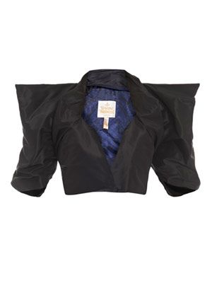Silk taffeta Diamond bolero