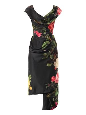 Mini Cocotte floral-print satin dress