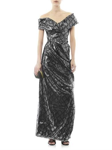 Vivienne Westwood Gold Label Sequin squiggle-print gown