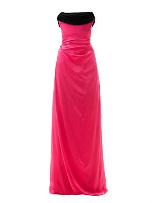 Ball tie-back silk gown