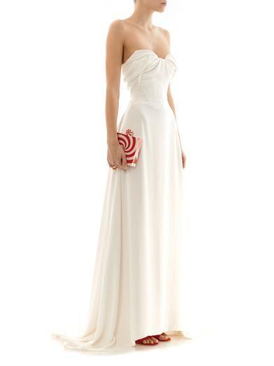 Vivienne Westwood Gold Label Bagpipe bustier silk-georgette dress