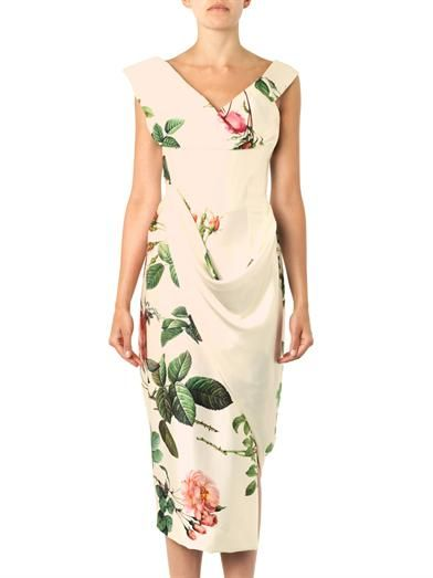 Vivienne Westwood Gold Label Prestige floral-print silk satin dress