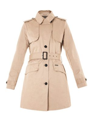 Teflon-coated cotton trench coat