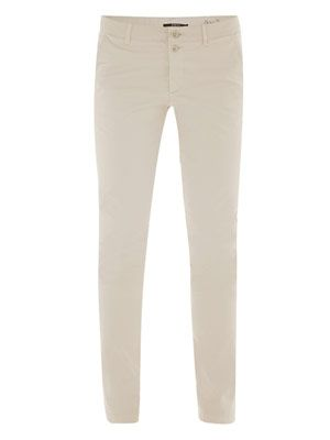Stretch satin chino