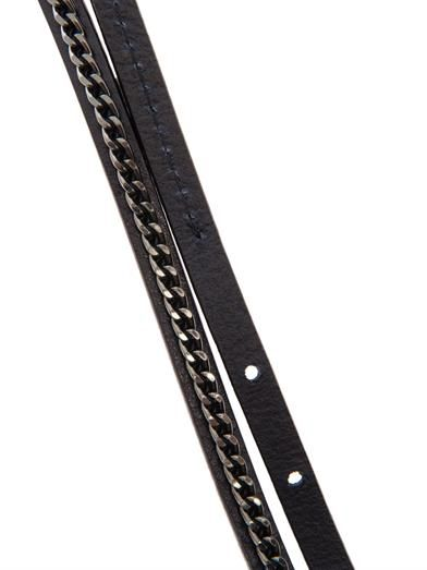 Weekend Max Mara Leather & chain skinny belt