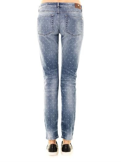 Weekend Max Mara Ricordo mid-rise boy-fit star-print jeans