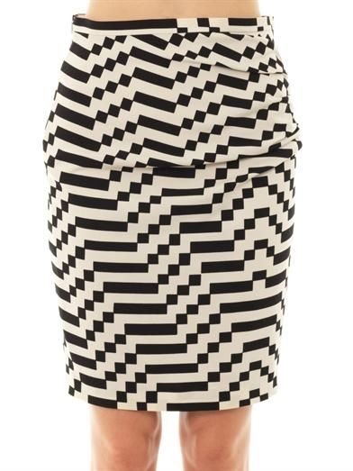 Weekend Max Mara Tantalo optical-print skirt