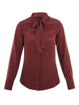Sacha dog-print blouse