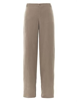 Giovane silk and linen-blend trousers
