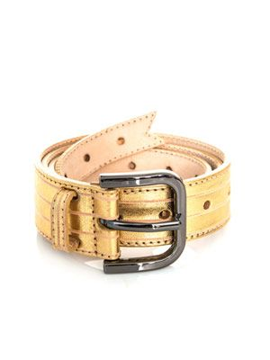 Gold leather belt