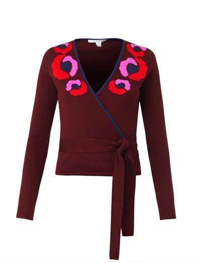 Diane Von Furstenberg Ballerina wool-knit wrap cardigan