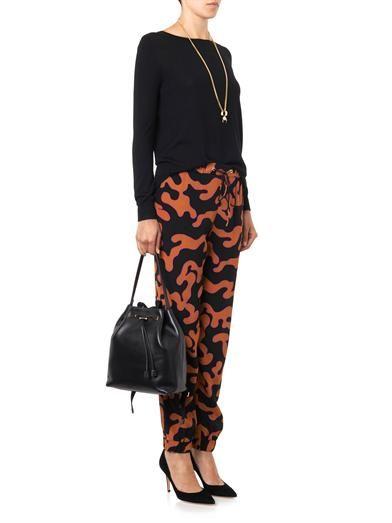 Diane Von Furstenberg Firebird-print trousers