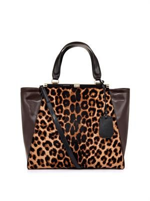 440 Runaway calf-hair and leather tote
