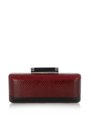Large Tonda striped clutch