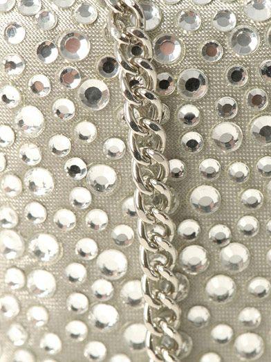 Diane Von Furstenberg Large Tonda crystal clutch
