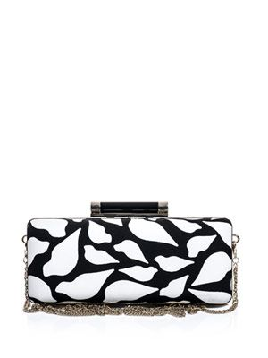 Large Tonda printed clutch