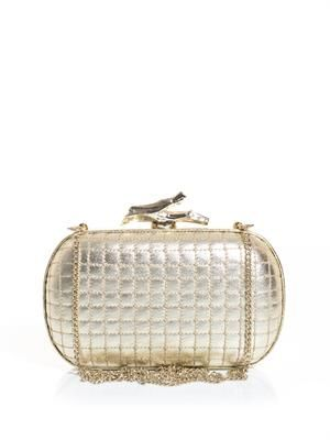 Lytton quilted clutch