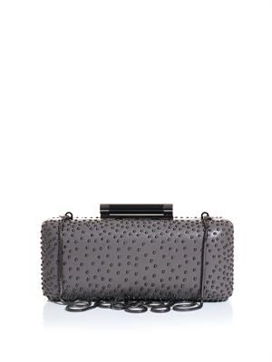 Tonda studded leather box clutch