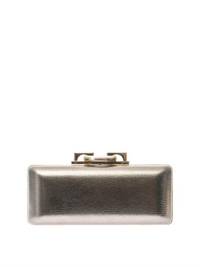 Diane Von Furstenberg Sutra embossed-leather clutch