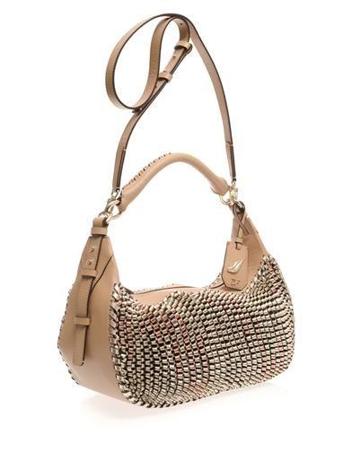 Diane Von Furstenberg Sutra knit leather hobo bag