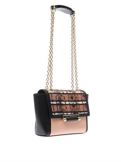 Diane Von Furstenberg 440 Mini striped-snake shoulder bag