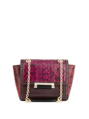 440 Mini snake and leather shoulder bag