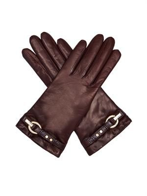 Sutra leather gloves