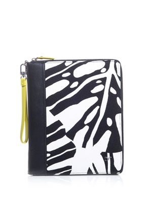 Animal-leaf print iPad® case