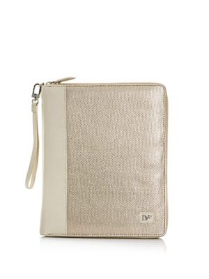 Metallic canvas iPad® case