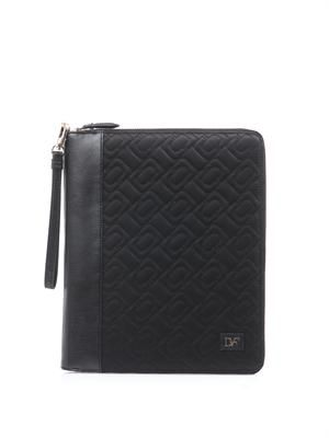 Chain link quilted nylon iPad® case