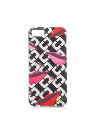 Lips chainlink-print iPhone® 5 case
