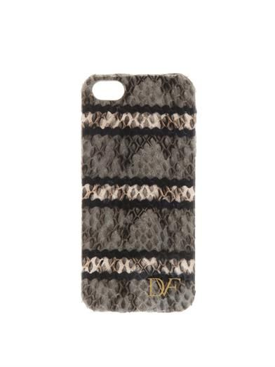 Diane Von Furstenberg Striped snakeskin iPhone® 5 case