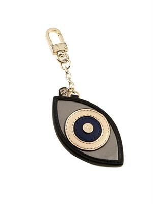 Evil Eye leather key ring