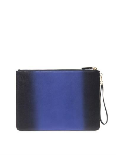 Diane Von Furstenberg Zip and Go leather pouch