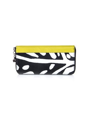 Animal leaf-print wallet