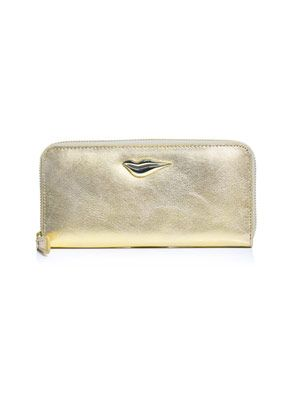 Lips zip-around wallet