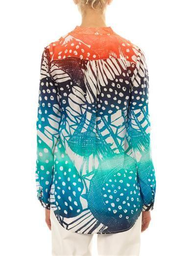 Diane Von Furstenberg Gilmore Habotai shirt
