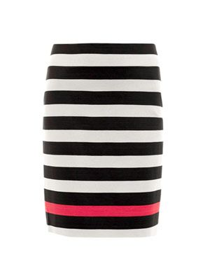 New Koto jersey stripe skirt