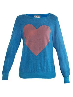 Love Note heart-print sweater