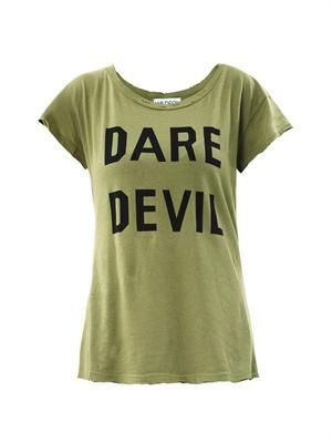 Dare Devil print T-shirt
