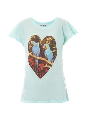 Parrot jungle-print T-shirt