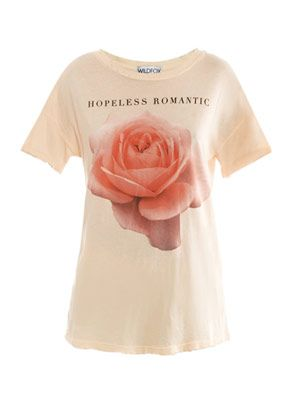 Hopeless romantic rose-print T-shirt