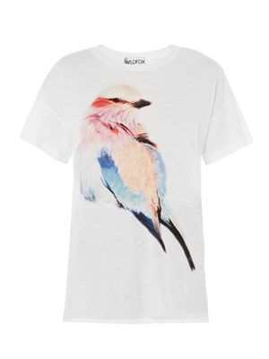 Favourite bright-wing print T-shirt